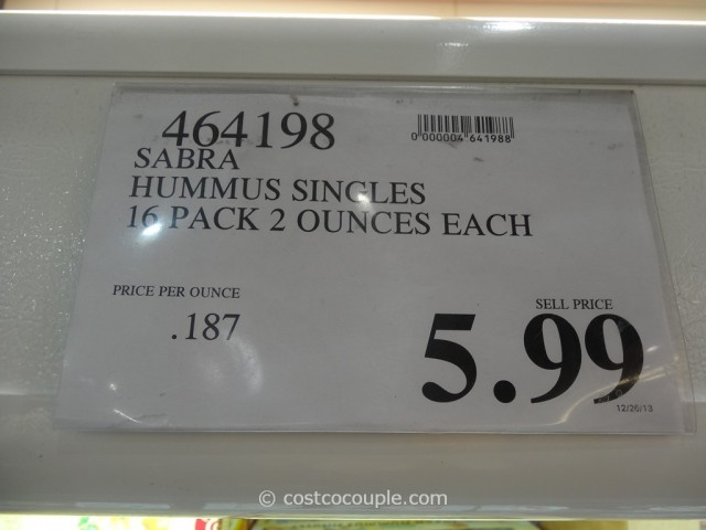 Sabra Hummus Singles Pack Costco 3
