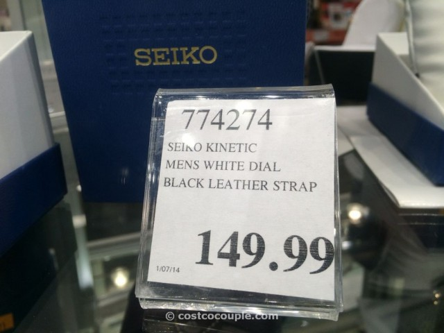 Seiko Kinetic Mens White Dial Costco 2