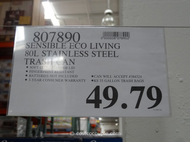 Sensible Eco Living Motion Sensor Trash Can Costco 1