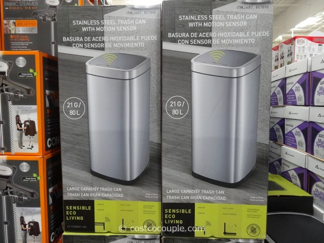 Sensible Eco Living Motion Sensor Trash Can Costco 3