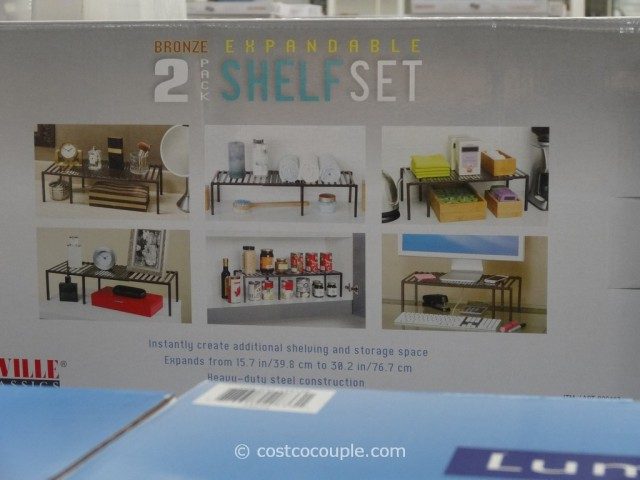 Seville Classics 2-Pack Expandable Shelf Set Costco 1