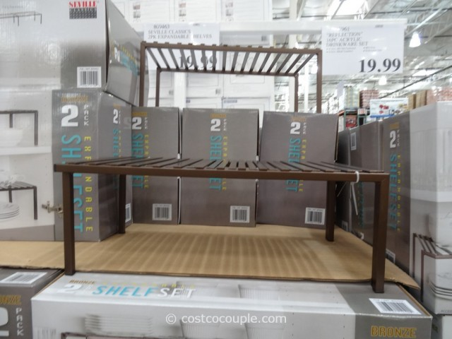 Seville Classics 2-Pack Expandable Shelf Set Costco 4