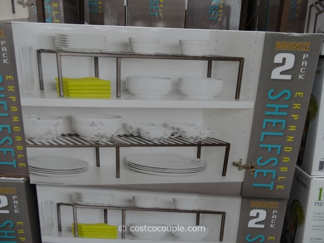 Seville Classics 2-Pack Expandable Shelf Set Costco 5