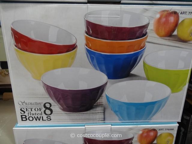 Signature Housewares Fluted Bowl Set Costco 2
