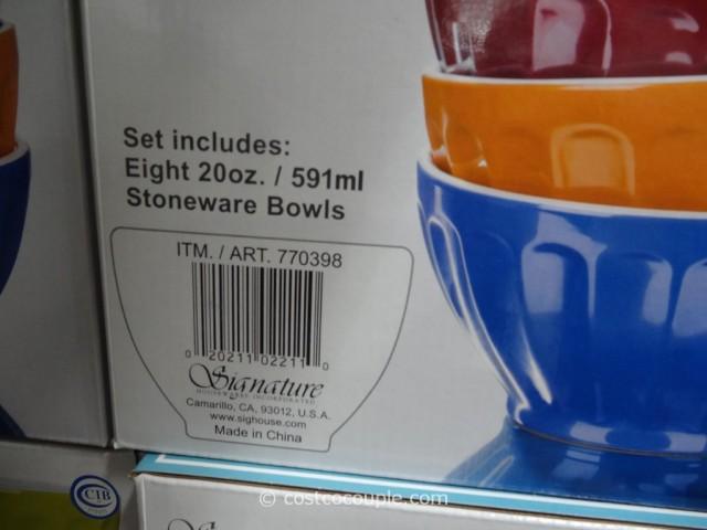 Signature Housewares Fluted Bowl Set Costco 3