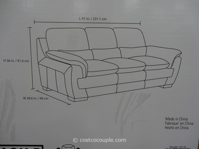 Simon Li Leonardo Leather Sofa Costco 5