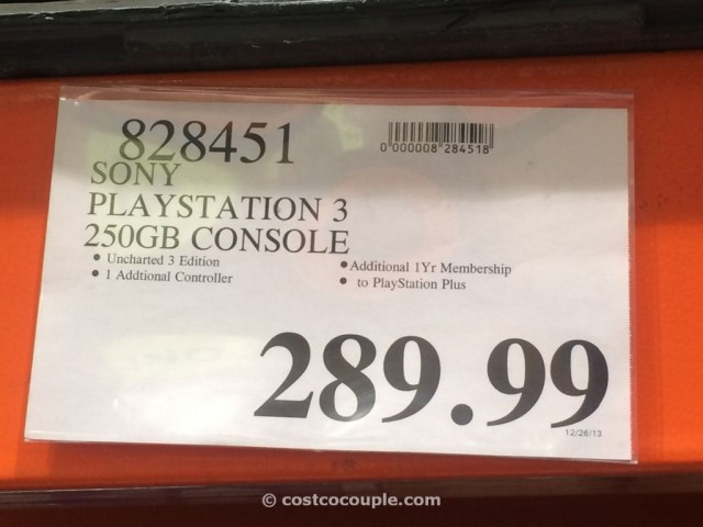 Sony Playstation 3 250 GB Console Costco 2