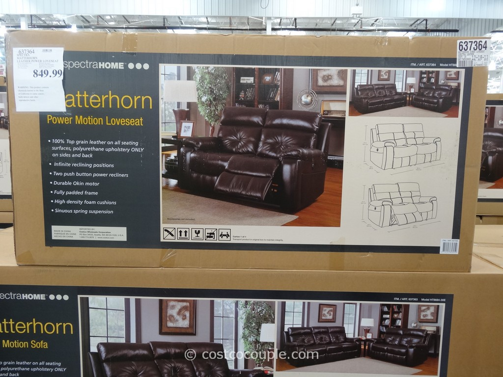 Spectra Matterhorn Leather Power Motion Loveseat Costco 2