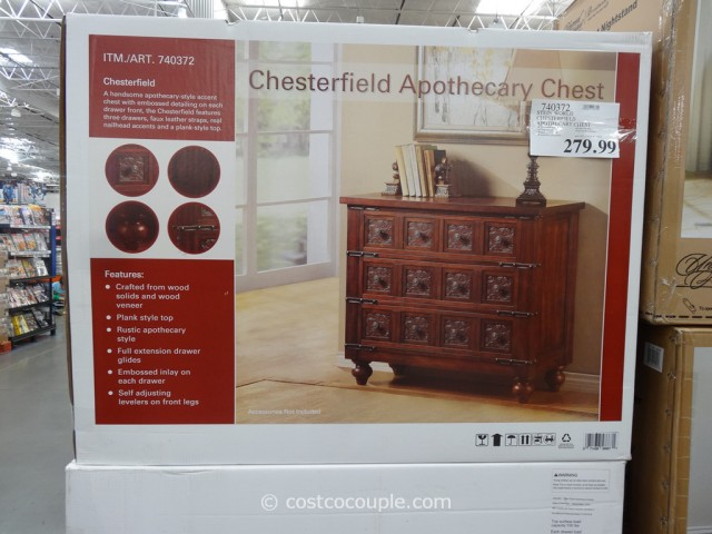 Stein World Chesterfield Apothecary Chest Costco 4