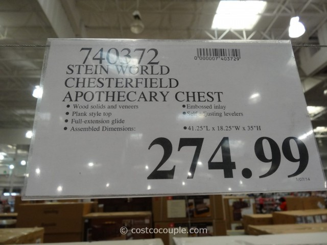 Steinworld Chesterfield Apothecary Chest Costco 1