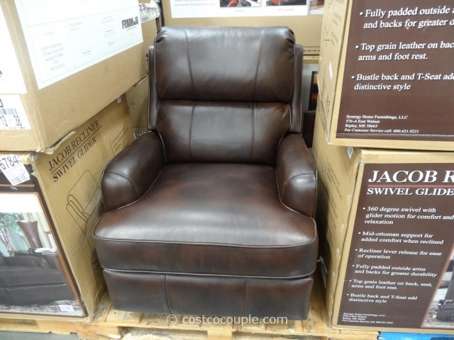 Synergy Jacob Leather Swivel Glider Recliner Costco 2