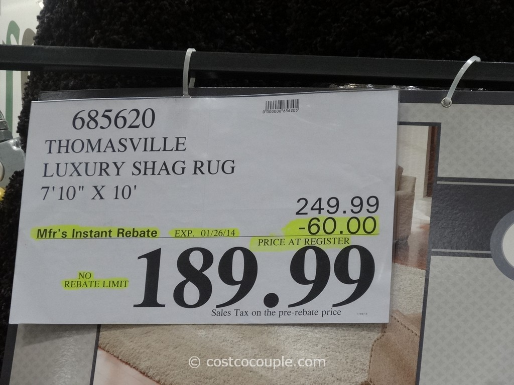 thomasville luxury shag rug costco 1
