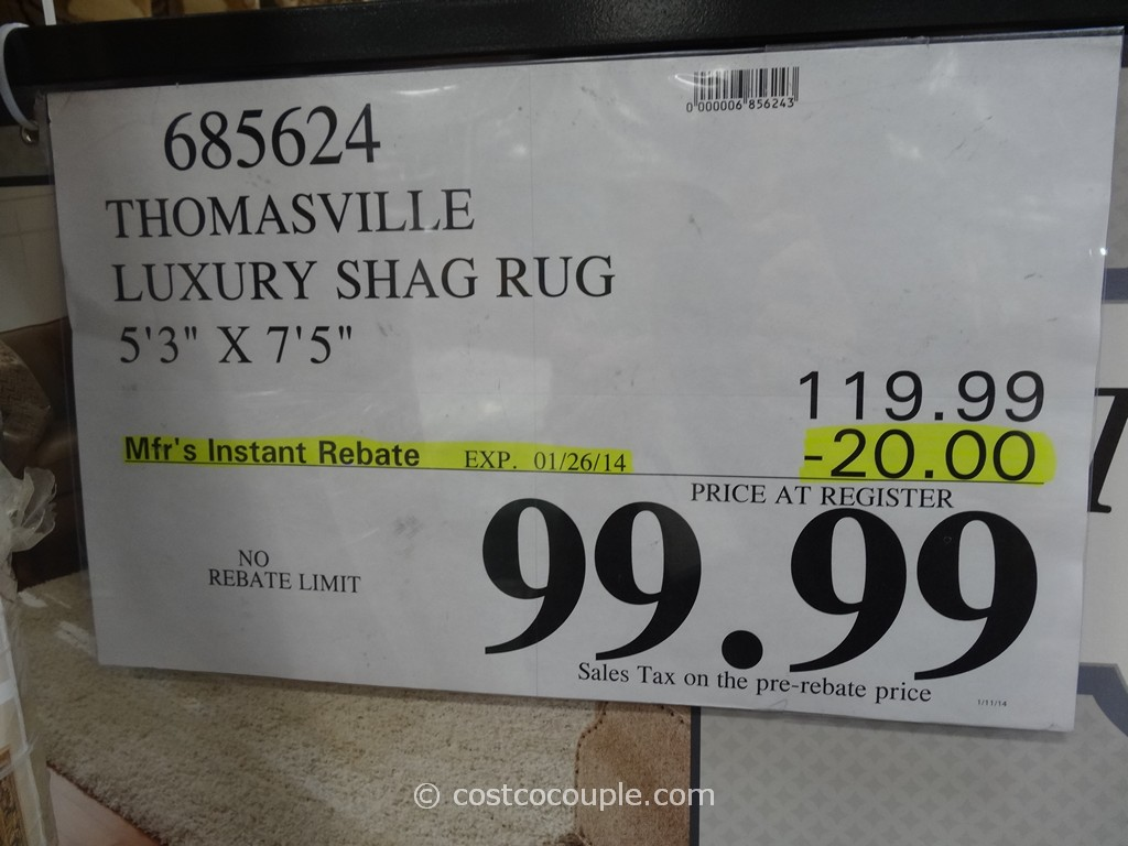 thomasville luxury shag rug costco 2