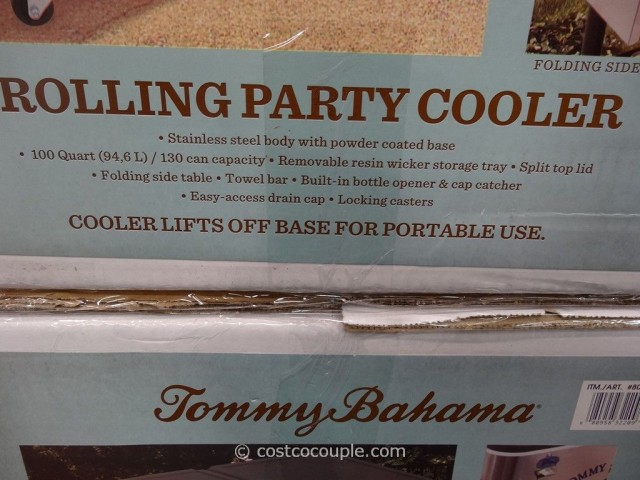 ... Tommy Bahama 100 Qt Stainless Steel Rolling Cooler Costco 4 ...