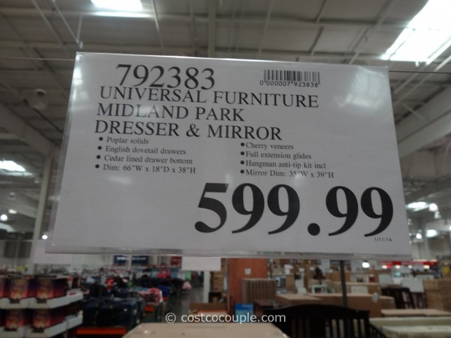 Universal Furniture Midland Park Dresser and Mirror Costco 1