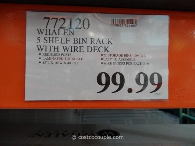 Whalen 5-Tier Bin Rack Costco 4