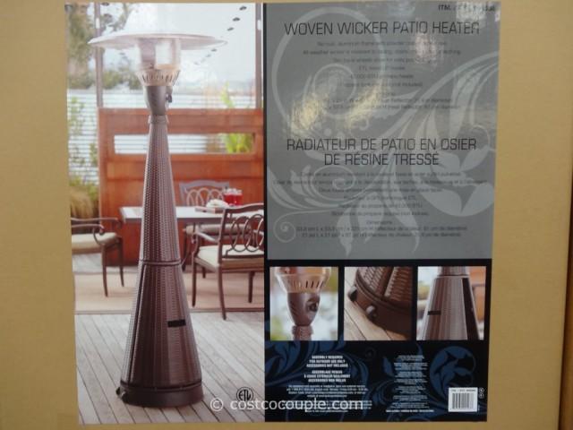 Woven Wicker Outdoor LP Patio Heater Costco 1