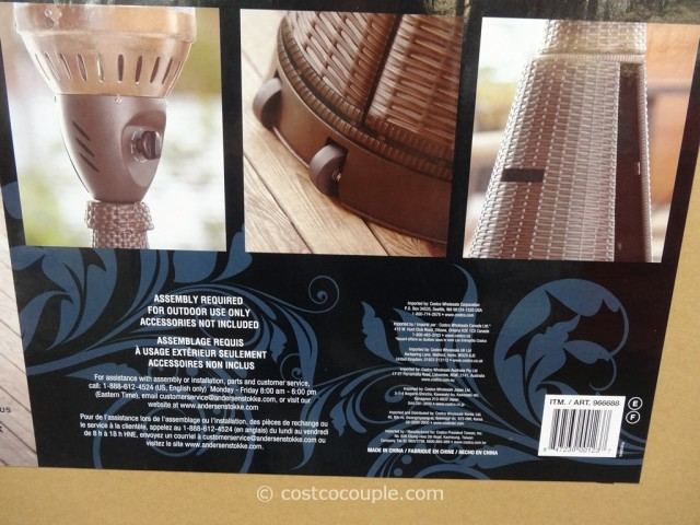 Woven Wicker Outdoor LP Patio Heater Costco 3