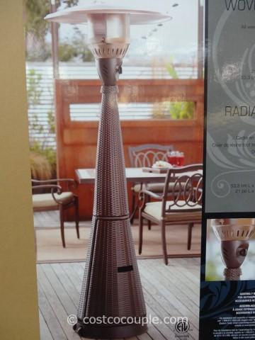 Woven Wicker Outdoor LP Patio Heater Costco 4
