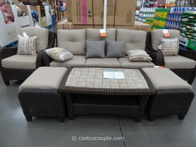 Agio International 6-Piece Fairview Woven Seating Set Costco 2