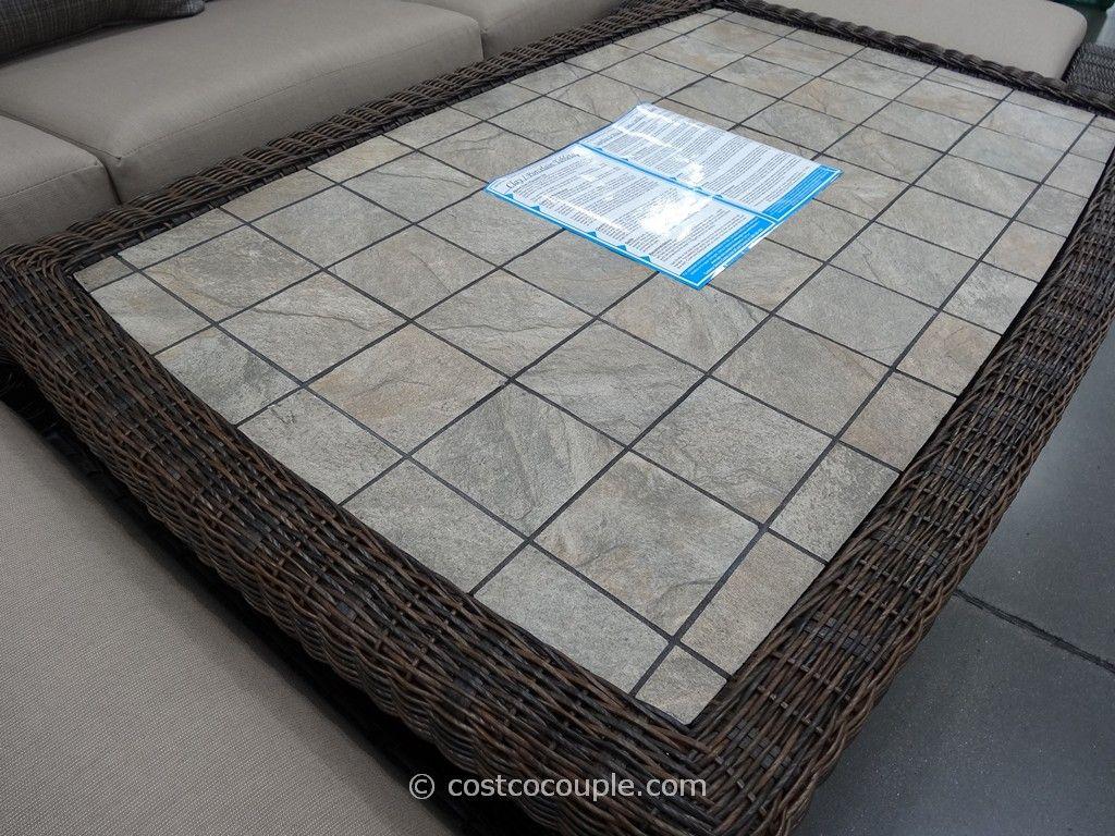 Agio International 6 Piece Fairview Woven Seating Set