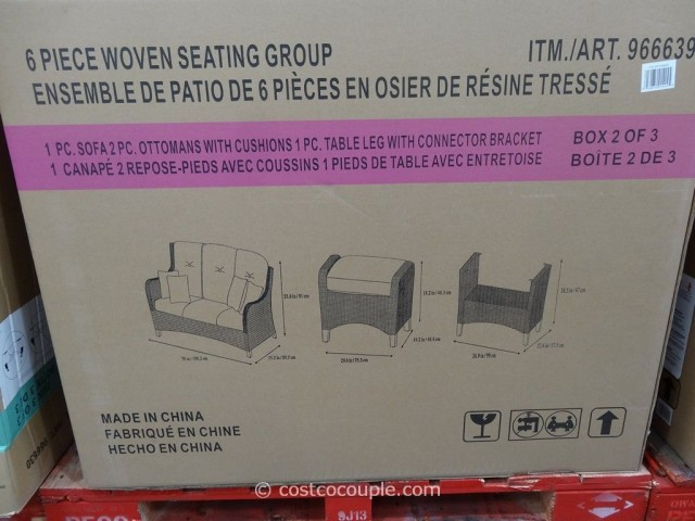 Agio International 6-Piece Fairview Woven Seating Set Costco 5