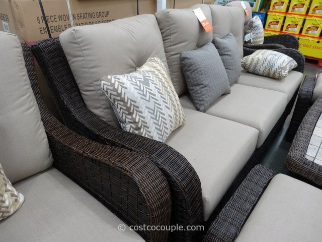 Agio International 6-Piece Fairview Woven Seating Set Costco 7
