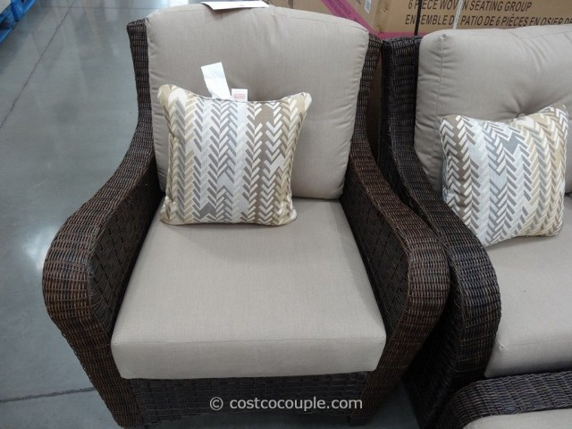 Agio International 6-Piece Fairview Woven Seating Set Costco 8
