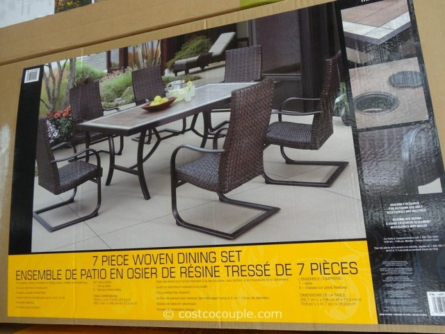 Agio International 7-Piece Fairview Woven Dining Set Costco 2