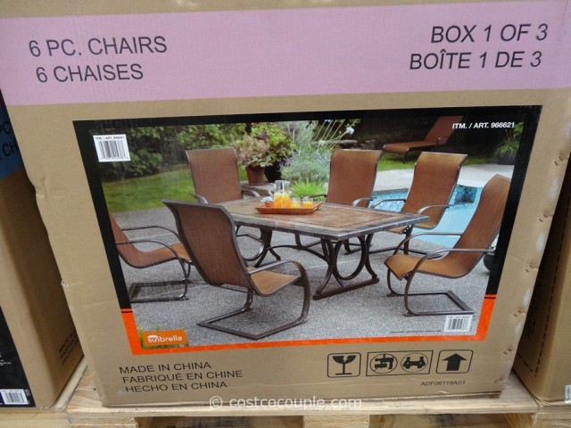 ... Agio International 7 Piece Sling Dining Set Costco 9 ...