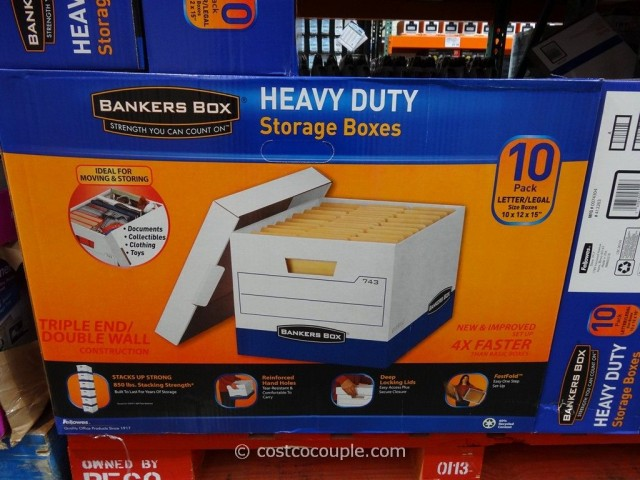 Bankers Box Heavy Duty Storage Boxes Costco 2
