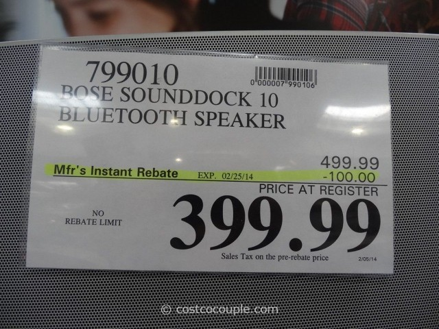 Bose Soundock 10 Bluetooth Speaker Costco 1