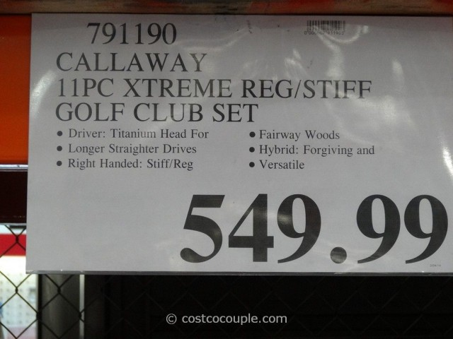 Callaway 11Pc Xtreme Golf Club Set Costco 1