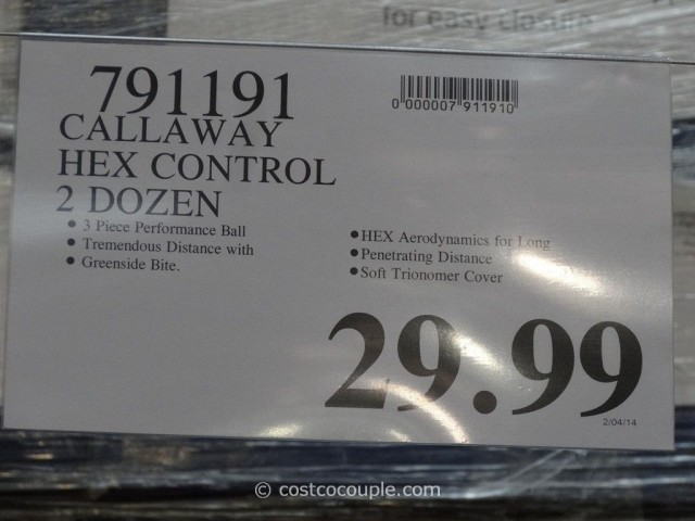 Callaway Hex Control Golf Balls Costco 1