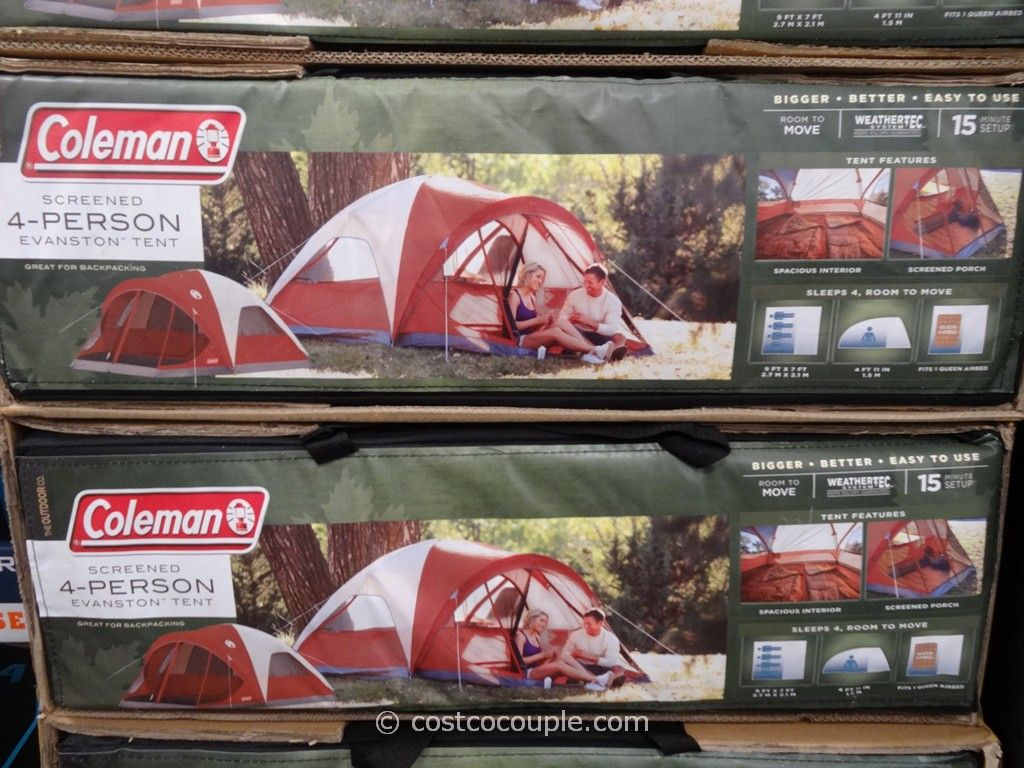 Coleman 4 Person Evanston Screened Tent Costco 2 & Coleman Screened 4 Person Evanston Tent