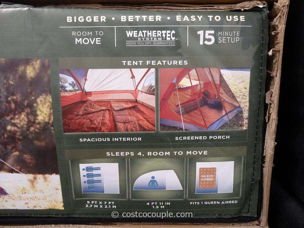 Coleman 4 Person Evanston Screened Tent Costco 3 ... & Coleman Screened 4 Person Evanston Tent