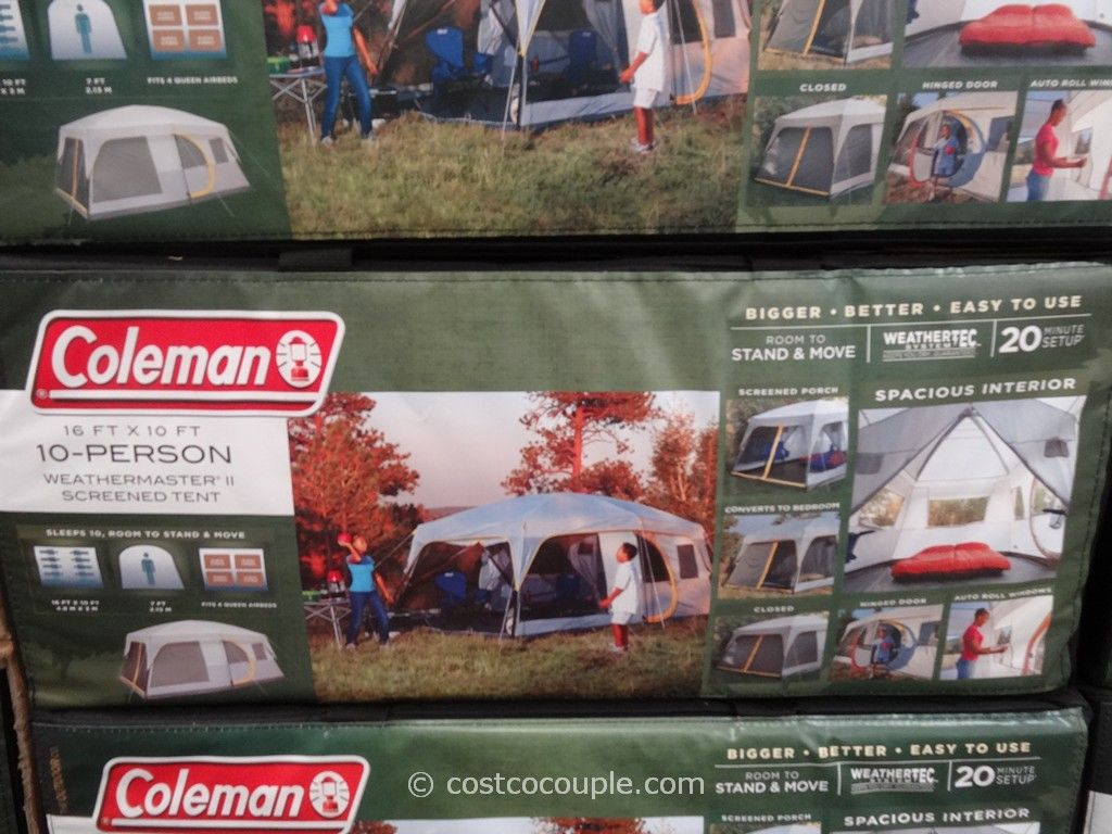 Coleman Weathermaster II 10 Person Screened Tent Costco 3 : coleman 6 person instant tent costco - memphite.com