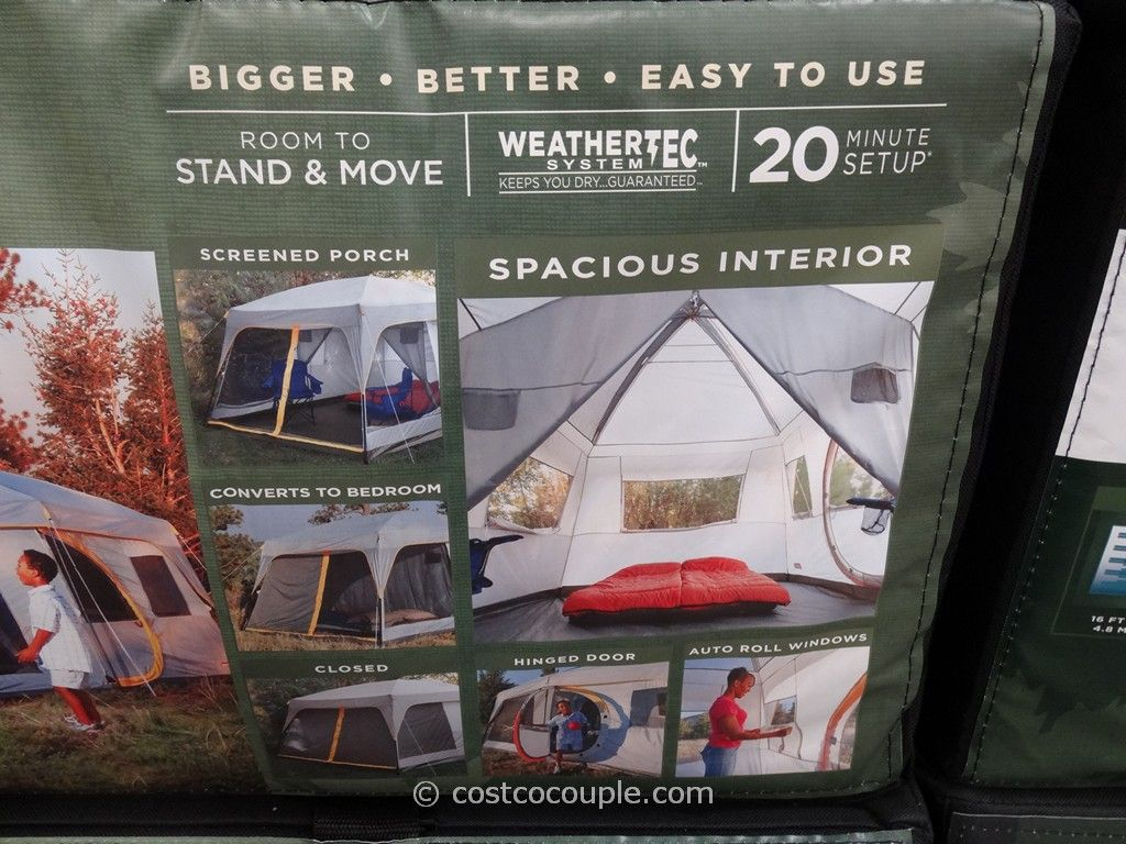 Coleman Weathermaster II 10 Person Screened Tent Costco 4 ... & Coleman Weathermaster II 10 Person Screened Tent