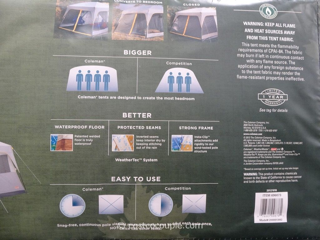 ... Coleman Weathermaster II 10 Person Screened Tent Costco 5 ... : coleman tent costco 4 person - memphite.com