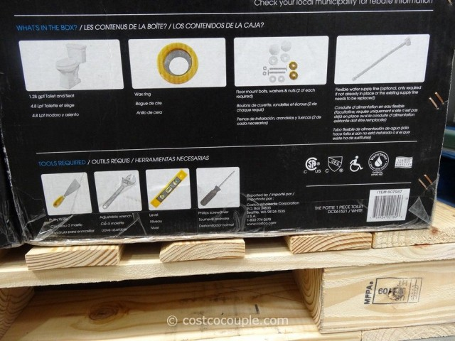 Danze 1-Piece High Efficiency Toilet Costco 4