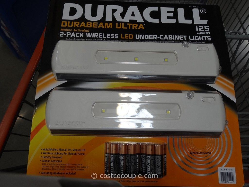 Duracell LED Undercabinet Light Costco 2 ... - Duracell LED Undercabinet  Lights - Under Cabinet Led Lighting Motion Sensor Cymun Designs