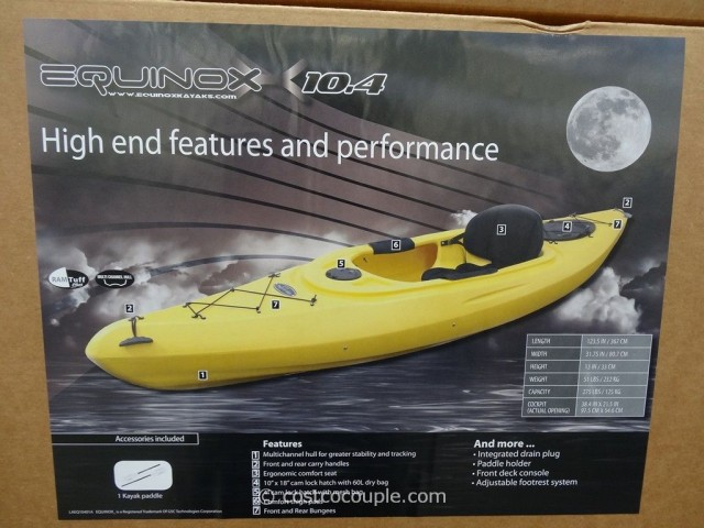 Equinox 10.4 Sit-In Kayak Costco 3