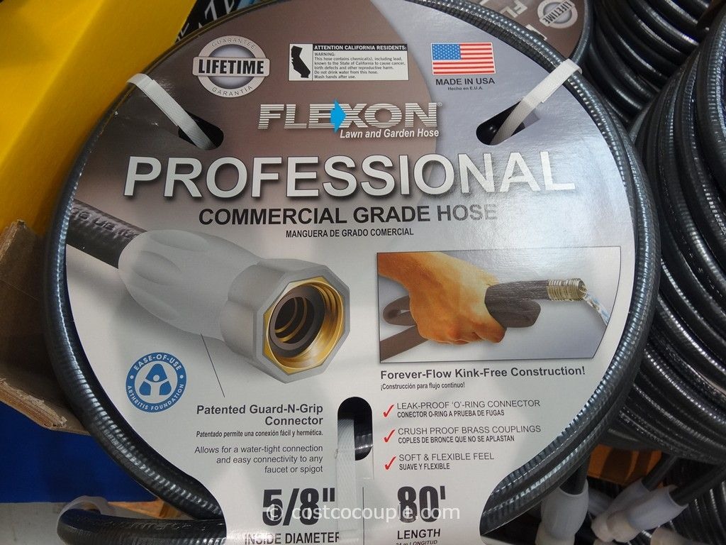 Wonderful Flexon 80 Feet Professional Commercial Grade Hose Costco 3 ...