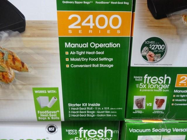 Foodsaver V2461 Vacuum Sealing System Costco 4