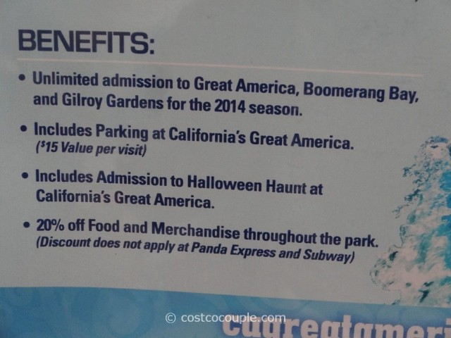 Gift Card Great America 2014 Season Pass Costco 2