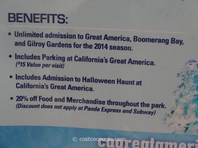 Gift Card Great America 2014 Season Pass Costco 2