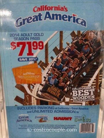 Gift Card Great America 2014 Season Pass Costco 4
