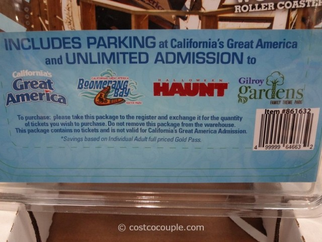 Gift Card Great America 2014 Season Pass Costco 5