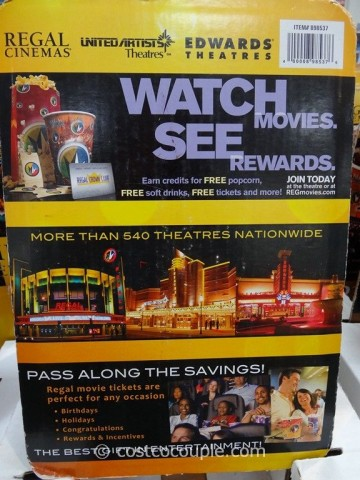 Gift Card Regal Cinemas Costco 2