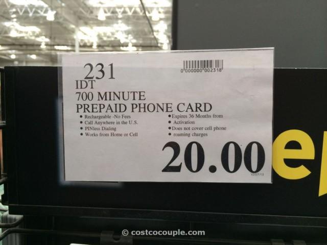 IDT Domestic PrePaid Phone Card Costco 1